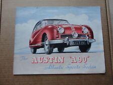 Original 1950 Austin A90 Atlantic Sports Sedan Sales Brochure