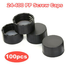 Black Cover 20ml 60ml Universal Solid Cover Ptfe Gasket 24 400 Pp Screw Caps