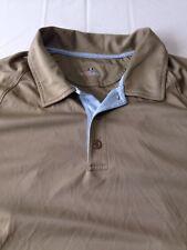 Under Armour Shirt Brown Short Sleeve Polo Heat Gear Golf Loose Fit