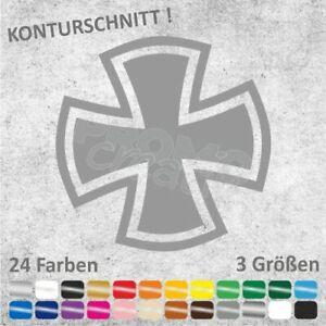 Eisernes Kreuz (gerundet) Iron Cross Aufkleber Sticker Autoaufkleber (3 Größen)