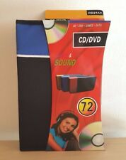 72 Capacity CD DVD Holder Storage Organizer DJ Wallet Media Case Album Car