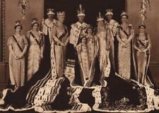 CORONATION 1937. Official group photo. King George VI Queen Princesses 1937