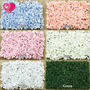 4-30 Bulk Silk Hydrangea Flower Foliage Grass Leave Panel Wall Mat Backdrop Deco