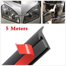 5M Slanted T Rubber Car Headlight Bumper Seal Strip Weatherstrip Moulding Trim