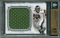 2013 topps museum collection jumbo relics #mjrnf NICK FOLES eagles BGS 9.5