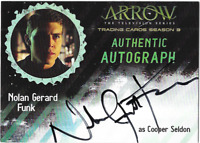 Arrow Season 3 Auto Autograph Card Nolan Gerard Funk Cooper Sheldon NGF