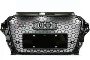 Exon RS3 Style Black Honeycomb Grille Type 2 suits Audi A3/S3 (8V) 2014-2016