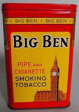 "HTF ""BIG BEN"" CLOCK TOWER VP ADVERTISING TOBACCO TIN NEARLY PERFECT CANADA"