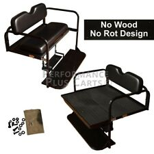 Yamaha G14,G16,G19, G22 Golf Cart Flip Folding Rear Back Seat Kit - Black