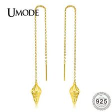 UMODE New Long Chain Ice Cream Shape 925 Sterling Silver Tassel Drop Earrings