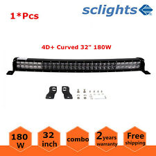 4D+ Curved 32inch 180W LED Light Bar Combo Beam Offroad SUV Boat Ford 4WD 30/33""