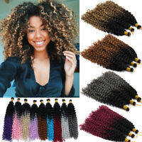 "15"" Deep Water Wavy Hair Twist Crochet Marley Bob Braids Braiding Hair Extension"