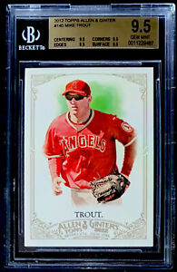 2012 TOPPS ALLEN & GINTER'S #140 MIKE TROUT ROOKIE BGS 9.5 GEM MINT 4X9.5 ANGELS