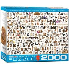 """(EG82200581) - Eurographics Puzzle 2000 Pc - The World of Dogs """"""""NEW"""""""""""