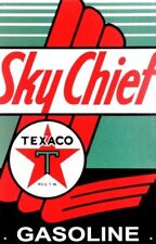 Texaco Sky Chief Metal Tin Ad Sign Gas Station Garage Retro New Gift Picture USA