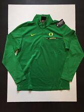 Nike Oregon Ducks Coaches 1/2 Zip Shirts Long Sleeves  Green Men's Size M