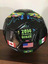2014 Fifa World Cup Brazil Mini Soccer Ball #2 International Flags Black