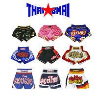 ThaiSmai Muay Thai Boxing Kick Boxing MMA Shorts S M L XL 3L 4L Black White Red