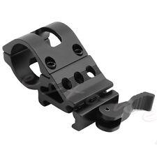 Offset Flashlight Torch Laser Rifle Scope Clamp Ring Rail Mount
