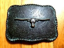 Belt Buckle Bull Texas Steer Cow Boy High Quality Steel Vintage Southern Charm 1