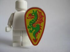 Lego Dragon SHIELD Vintage Castle -Ovoid- Green/Red Dragon