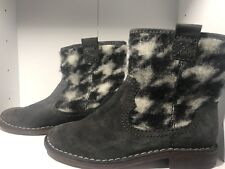 New Womans Clarks suede boots dark grey Size UK 3.5 D