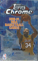 2000-01 00-01 TOPPS CHROME NBA HOBBY SEALED BOX! SHAQ FINALS GAME-WORN JERSEY!