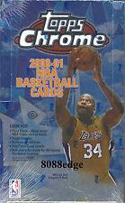 2000 00-01 TOPPS CHROME NBA HOBBY SEALED BOX! SHAQ FINALS GAME-WORN JERSEY!