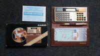 Casio CB-100 Electronic Checkbook Vintage Note Calcolatrice Calculator Nuovo New