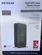 NETGEAR N600 (8x4) WiFi DOCSIS 3.0 Cable Modem Router (C3700) NEW