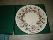 New Lenox Colonial Christmas Wreath 1993 Georgia 13th Colony Collector Plate