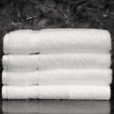 3 WHITE POLLY/COTTON BLEND HOTEL BATH TOWELS 24x48 ROYAL TITAN BRAND