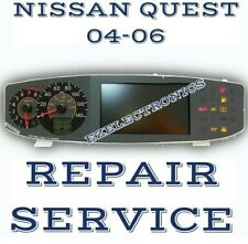 INSTRUMENT CLUSTER REPAIR SERVICE, FOR 2004 2005 2006 NISSAN QUEST