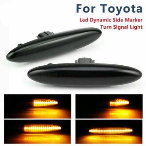 Smoke Dynamic LED Side Marker Turn Signal Light For Toyota Camry ACV40 2006-2011