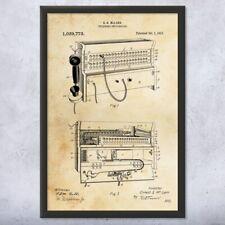 Framed Telephone Switchboard Print Repair Shop Decor Repairman Gift Telecom Gift