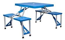 Alu Campingtisch Koffertisch mit Stühlen Koffergarnitur Sitzgarnitur Klappbar mi