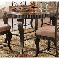 "Steve Silver HL500T Hamlyn Marble Top Dining Table 44"" X 44"" X 31"" NEW"