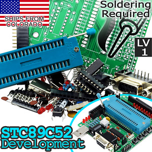 C51 and AVR MCU Development Board for Atmel and STC MCUs