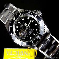 Invicta Black Pro Diver Open Heart Skeleton Automatic Stainless Steel Watch New