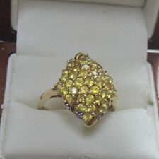 Cluster Yellow Fine Diamond Rings