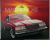 1978 Dodge Magnum XE Color Sales Brochure Original