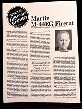 Official ARCHERY WORLD Report Martin Archery M-44EG Firecat (reprint June 1987)