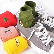 Mid Crew Socks Cotton Novelty Fruit Cute Designs Pairs Crazy Gifts Sock Harajuku