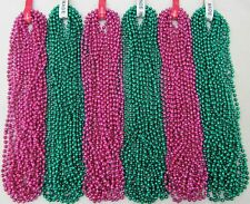Mardi Gras Beads Hot Pink Green 6 Dozen Party Parade Baby Shower 72 Necklaces