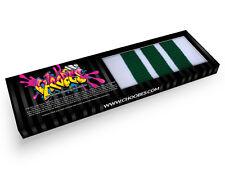Choobes (Unisex) 30 Inch over the knee White tube socks with Green stripes