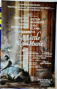 1989 FULL CAST SIGNED Little Night Music theatre poster Lila Kedrova Sondheim