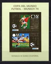 s5175) GUINEA EC. 1974 MNH** WC Football -CM Calcio S/S GOLD WINNERS IMPERF