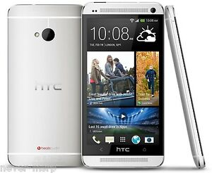 "HTC One Silver 801e (Factory Unlocked) 4.7"" , 1.7Ghz Quad-Core , 2G RAM , 16GB"