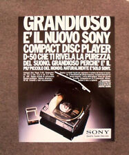 [GCG] N016 - Advertising Pubblicità - 1986 - SONY COMPACT DISC PLAYER D-50
