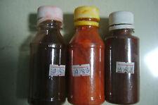 Finest oil varnish dyestuff powder 3 bottles as one set violin parts